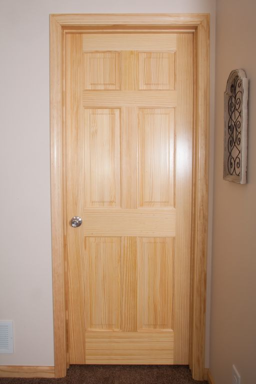 Natural Stained Solid 6 Panel Doors