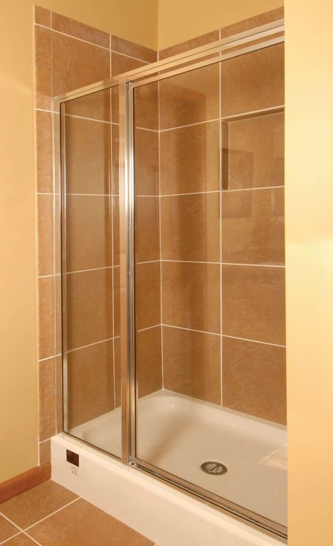 48x36 3 Sided Ceramic Tile Shower