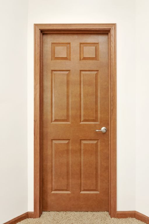 6 panel oak embossed interior door pennwest homes for 6 panel interior doors