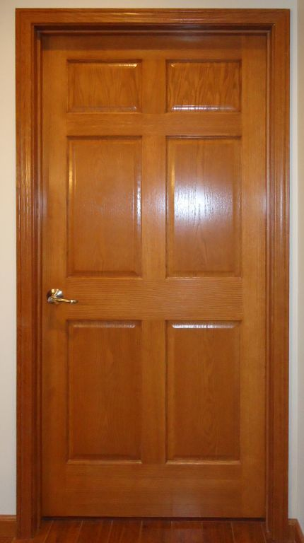 6 Panel Oak Veneer Interior Door Pennwest Homes