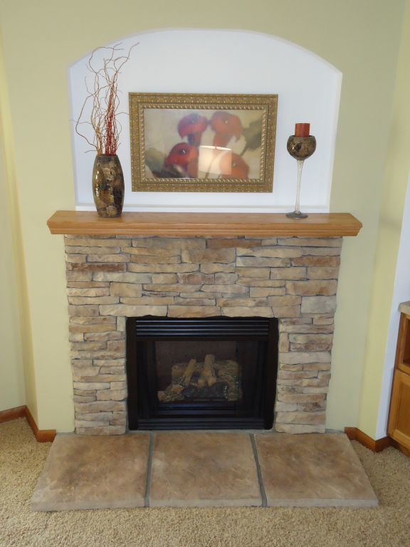 Fireplaces pennwest homes for Fireplace half stone