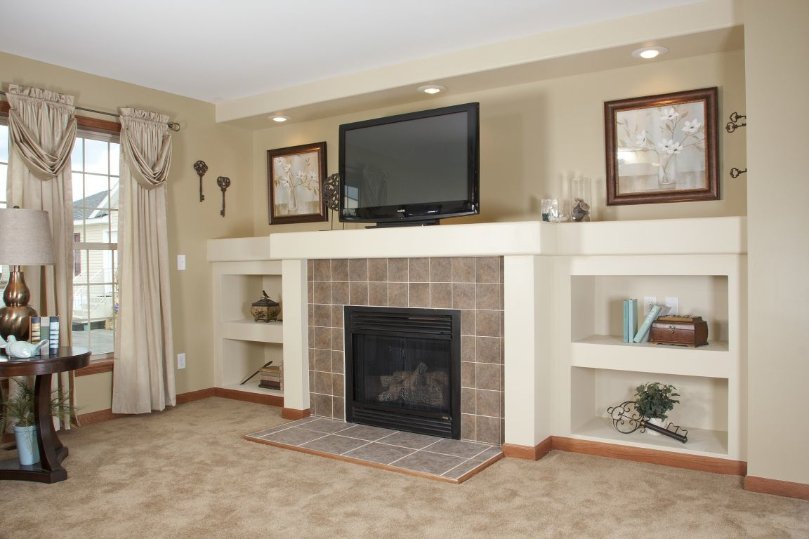 Gas Tile Fireplace