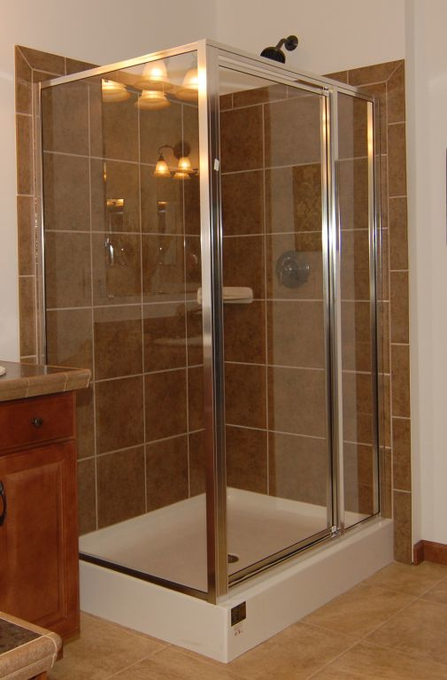 Ceramic Shower with 2 Sided Pan and Surround | Modular Homes by ...