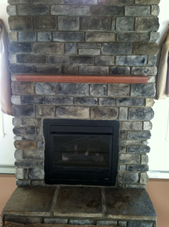 Cobblestone Fireplace fireplaces | colony homes