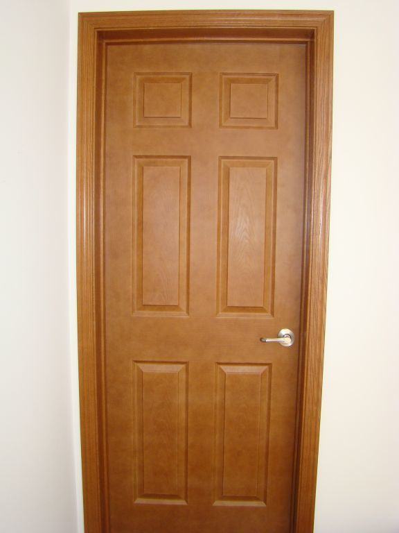 Oak hollow core 6 panel interior door modular homes by Modular home interior doors