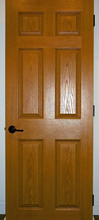 oak stained solid core 6 panel interior door modular homes by
