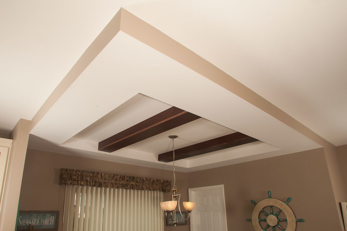 Tray Ceiling With Beams Modular Homes By Manorwood Homes