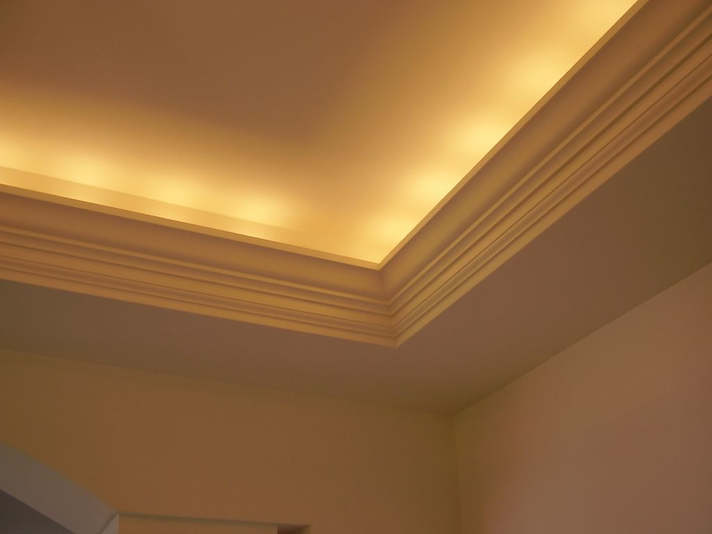 Tray Ceiling With Indirect Lighting Amp Cove Molding
