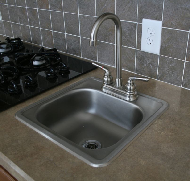 Brushed Nickel Faucet With Stainless Steel Sink - Sink Ideas