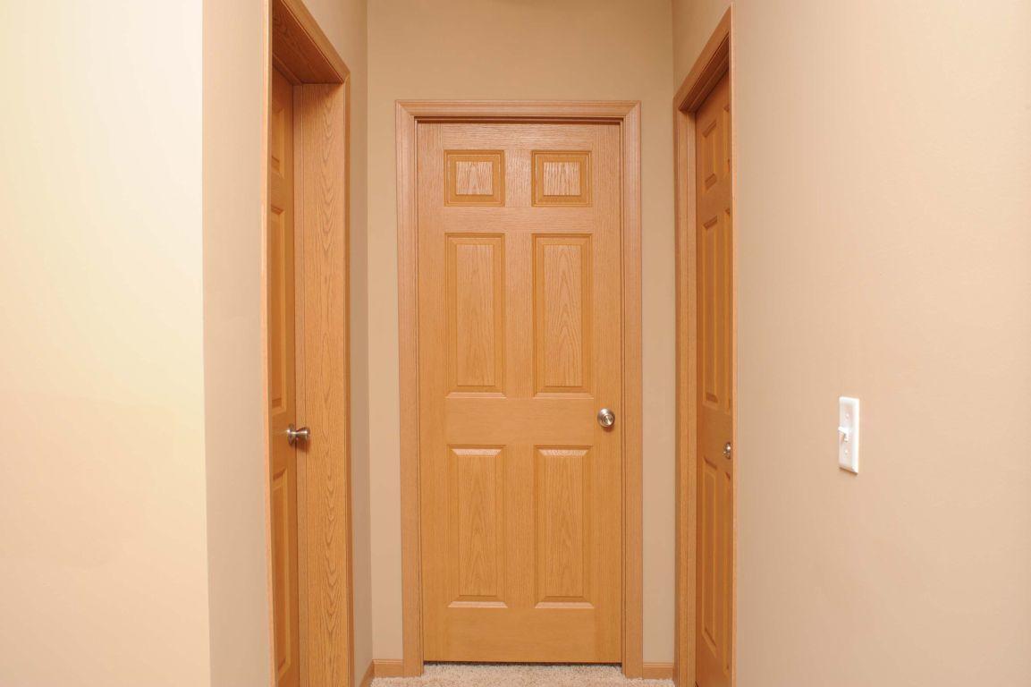 Door Interior. 6 Panel Woodgrain Doors