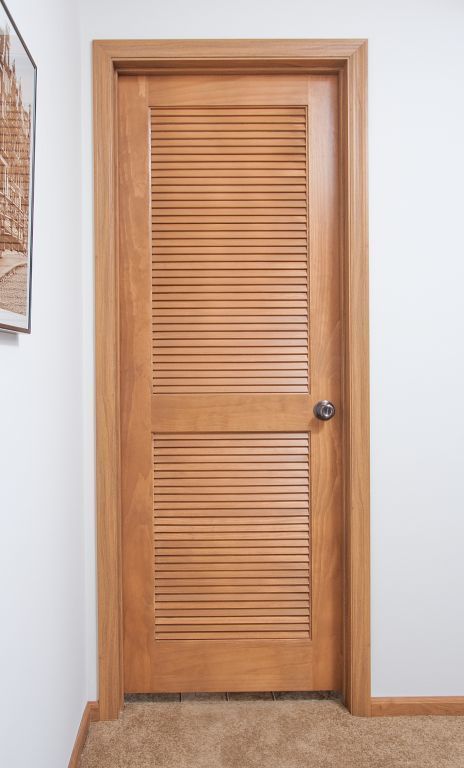Louvered Utility Room Door
