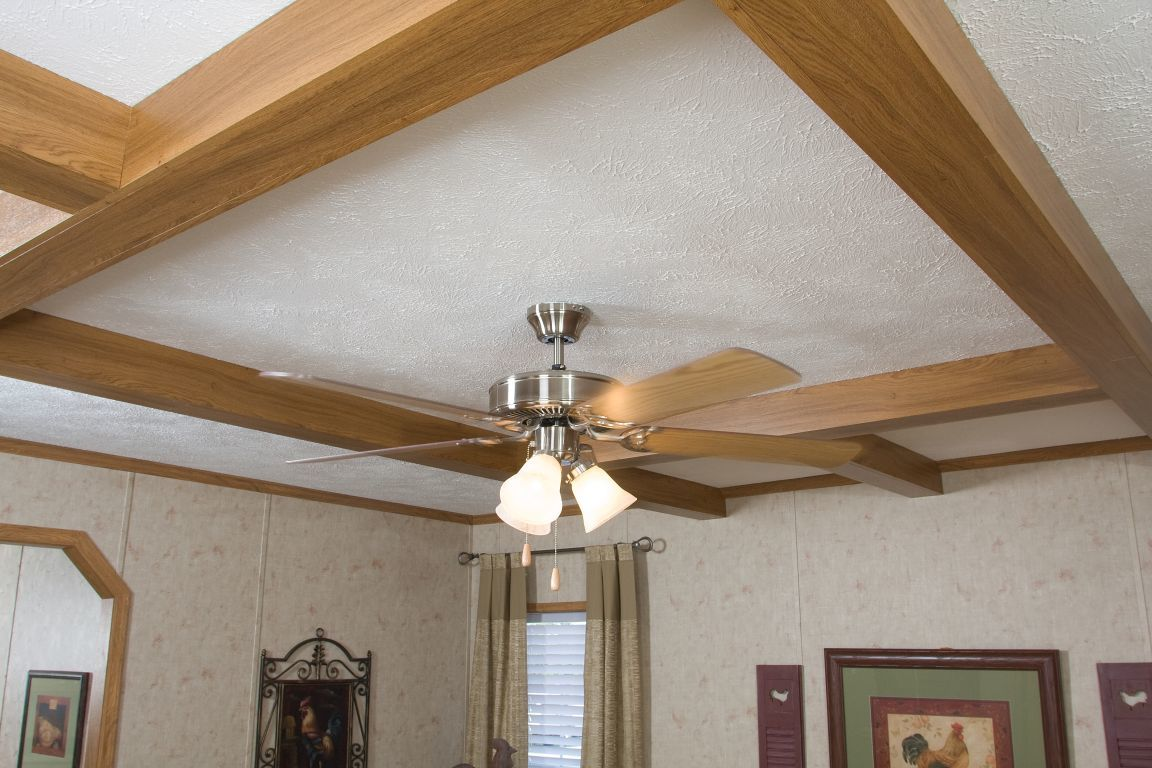 Ceiling fans colony homes ceiling beam application with lighted paddle fan aloadofball Images