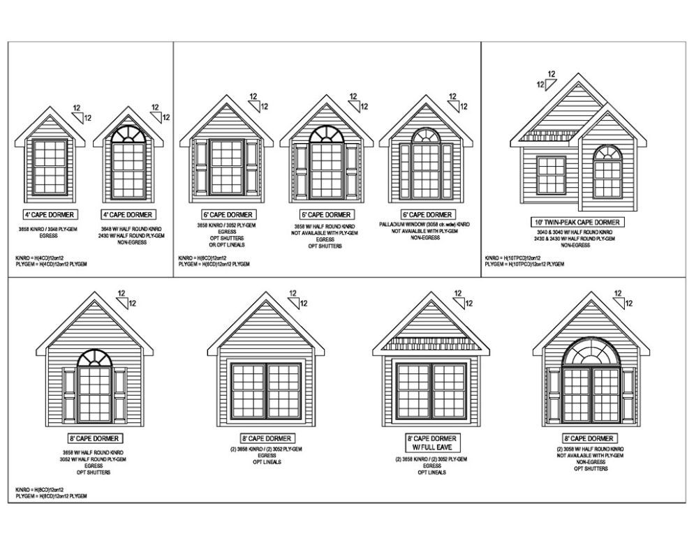 Dormers r anell homes for Dormered cape