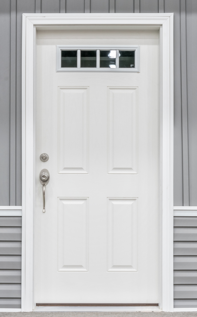white front doors4 Lite White Fiberglass Front Door  Commodore of Indiana