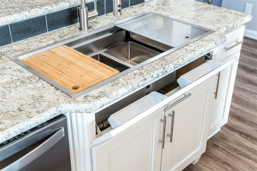 Galley sink modular homes by manorwood homes an for Galley kitchen sink