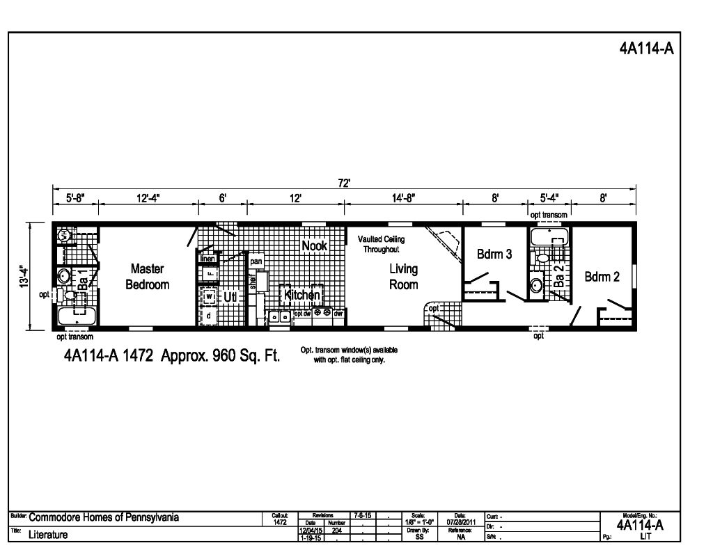 astro single section 14 4a114a find a home commodore homes rh commodorehomes com Mobile Home Wiring Codes Mobile Home Wiring From Pole