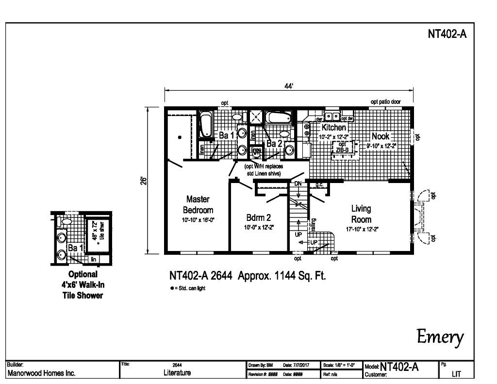 Manorwood Ranch Cape Homes Emery NT402A – Manorwood Homes Floor Plans