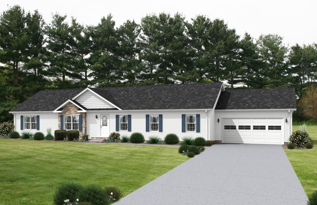 Aurora Clic Ranch Modular - Arlington IV - AU168A | Find ... on french house plans with dormers, small house plans with dormers, country home plans with dormers,