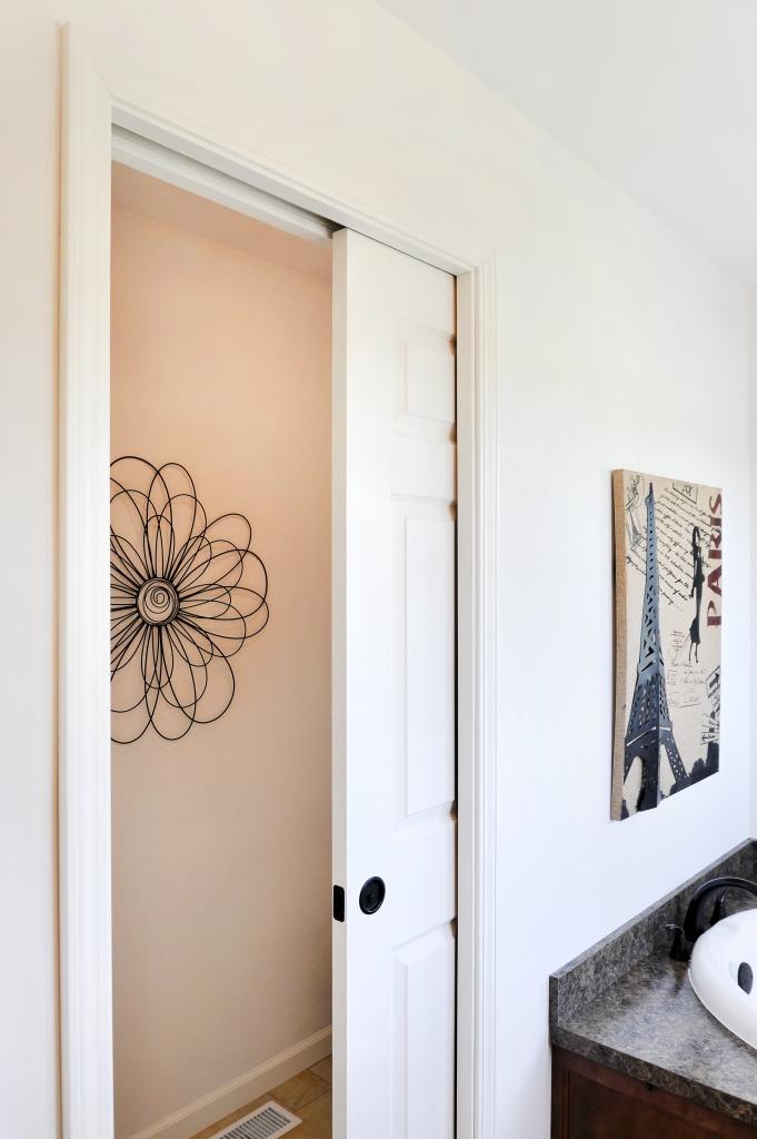 Cambridge 2 ranch collection cedardelle hx322a find for Master bathroom pocket door