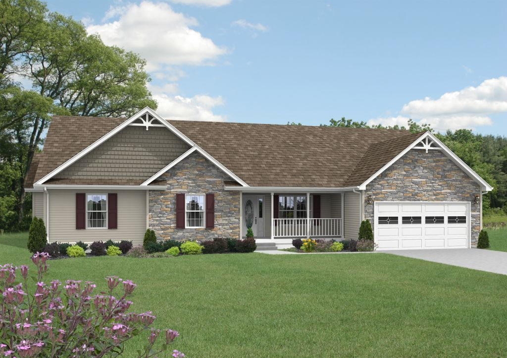 Manorwood ranch cape homes yorkshire mg602a find a for Custom ranch home builders maryland