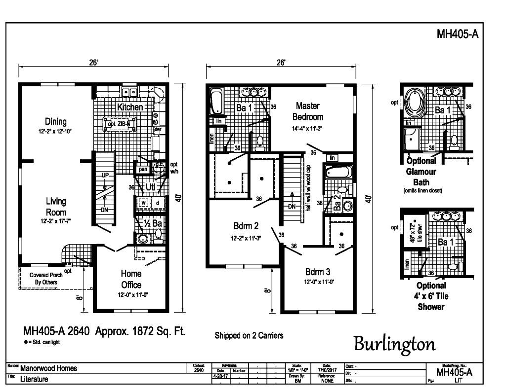 Manorwood Two Story Homes Burlington MH405A – Manorwood Homes Floor Plans